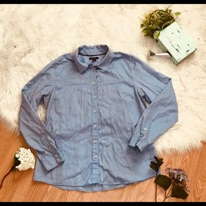 Nautica button down blue blouse